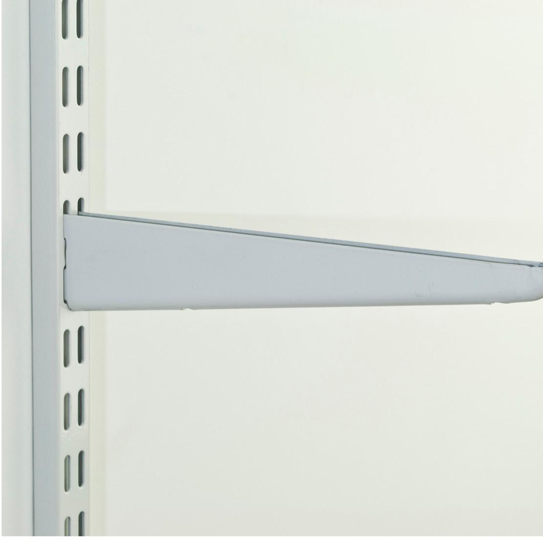 Twin Slot Shelving Brackets White Fixfirm
