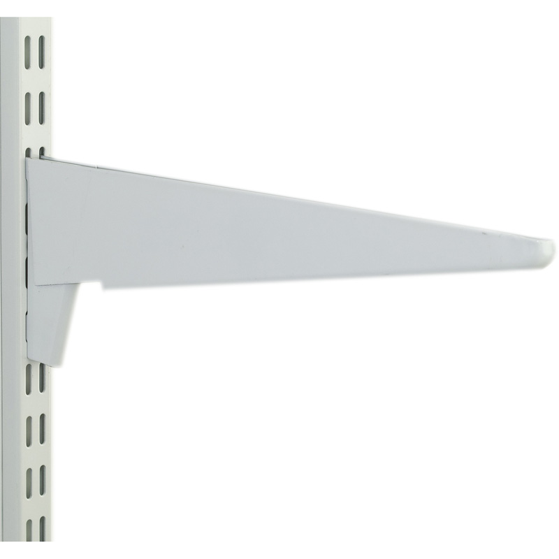 Twin Slot Shelving Brackets White Twin Slot Shelving
