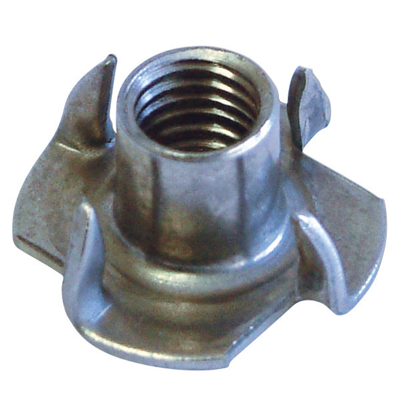 Long Barrel Tee Nuts 4 Prong Type Long Barrel Tee Nuts