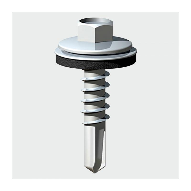 Light Section Hex Head Self Drill Tek Screws With 16mm