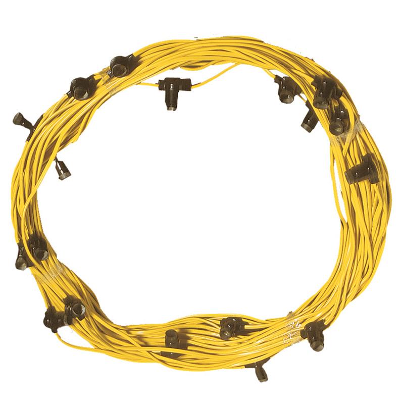 Construction Site String Lights: Festoon Lighting