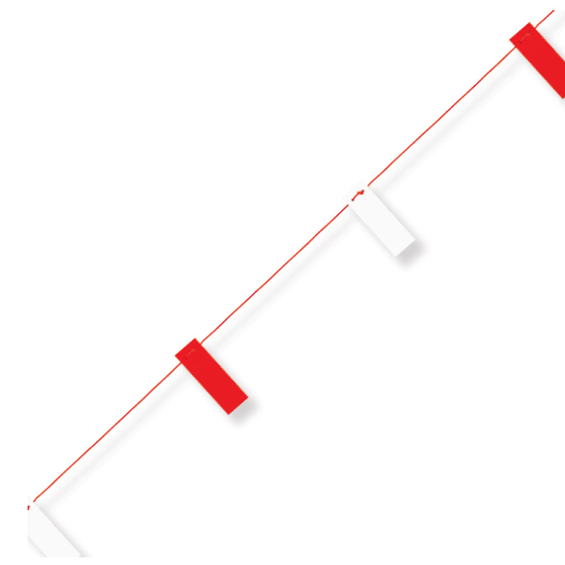 Hazard Warning Bunting Rope Barrier Fence 26m Red /& White