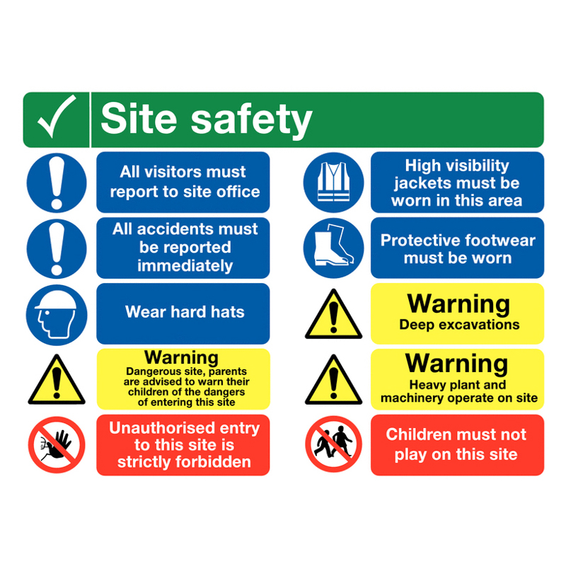 Site Safety Signs Multi Message Signs Safety Signage