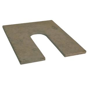 1mm 75x100mm Pre-Galv Steel Metal Horseshoe Metal Shim Packer with 22x65mm Slot