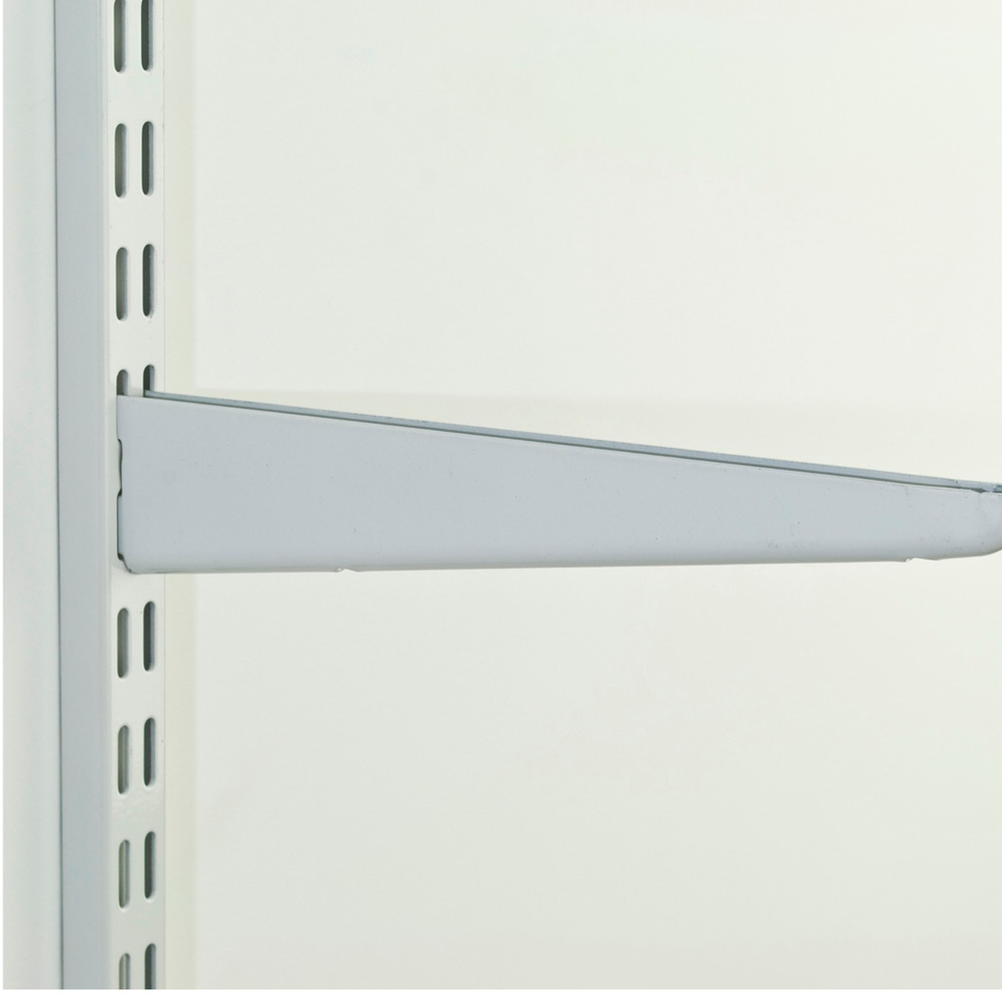 120mm Twin Slot Shelving Brackets - White