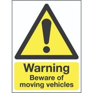 400x300mm Warning Beware of moving vehicles Outdoor Sign