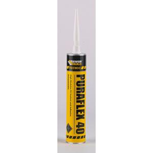 Grey PUR Polyurethane Sealant and Adhesive - 600ml Foil Pack Sausage
