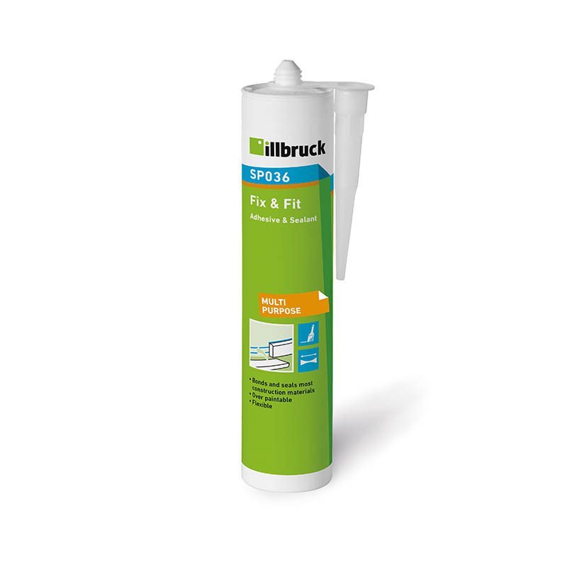 White TREMCO SP036 Fix & Fit Adhesive & Sealant