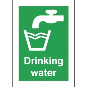70x50mm Drinking Water - Self Adhesive