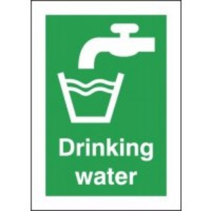 210x148mm Drinking Water - Self Adhesive