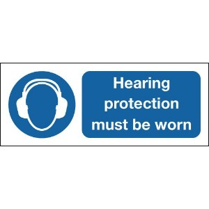 100x250mm Hearing Protection Must Be Worn - Rigid