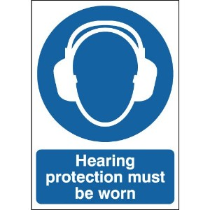297x210mm Hearing Protection Must Be Worn - Rigid