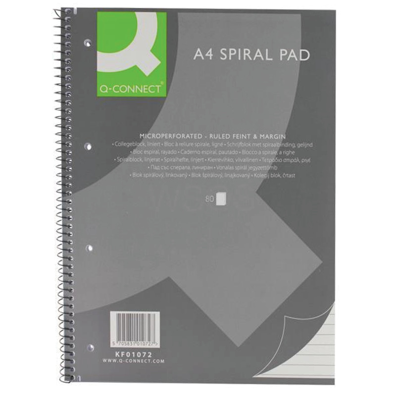 Fixfirm A4 Spiral Pad Micro-perforated 80Lf Pack of 5