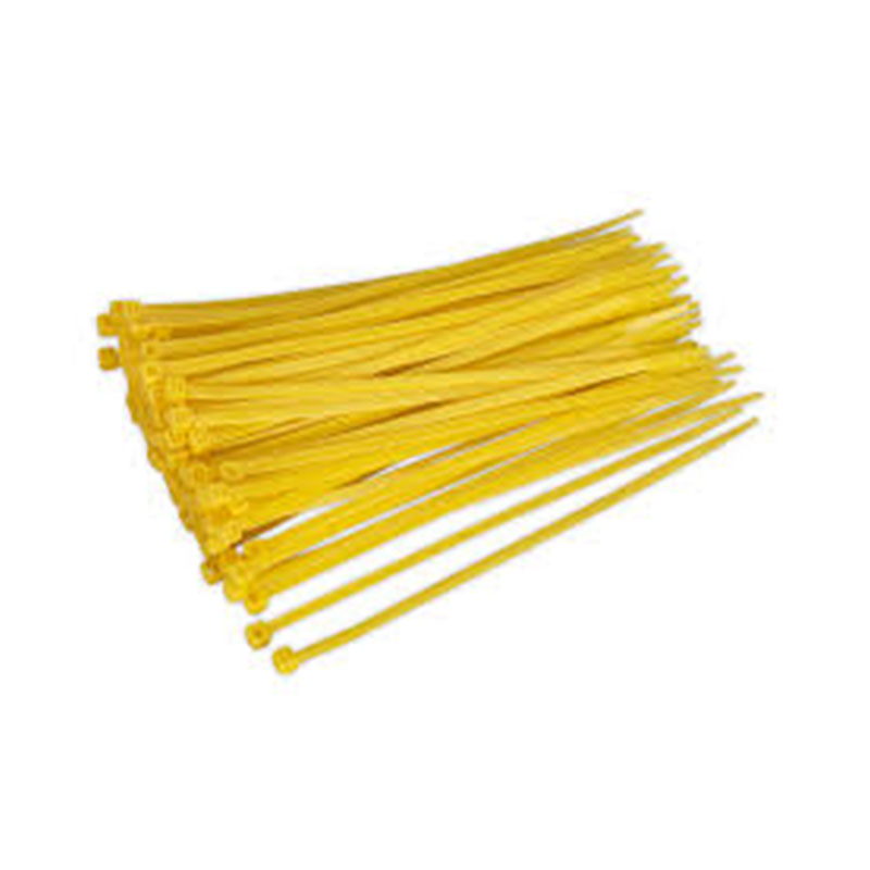 200x4.8mm YELLOW Coloured Nylon Cable Ties