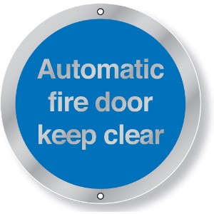 76mm Dia Automatic Fire Door Keep Clear