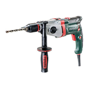 Metabo SBEV 1100-2 S 240V: 1,100 W, Two speed impact drill with VTC speed control, Impuls, Carry case