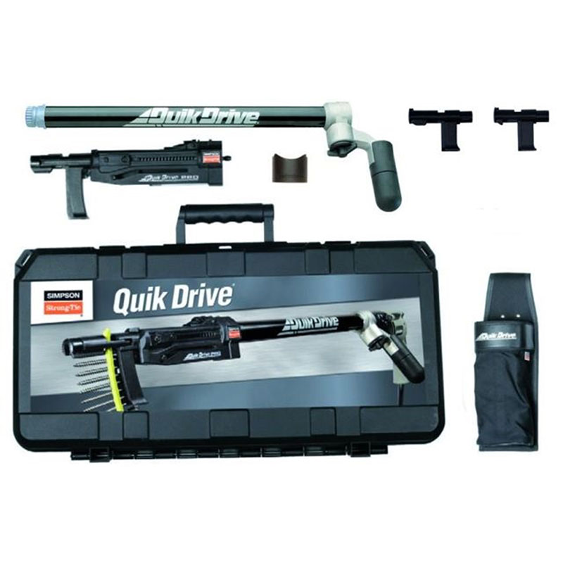 QD76KE QuikDrive Kit with Extension Bar, 51/64/76mm Attachments, Belt Holster, Case and 5 Bits