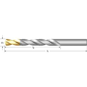 1.0mm Dormer A002 HSS TiN Coated Jobber Twist Drill Bits