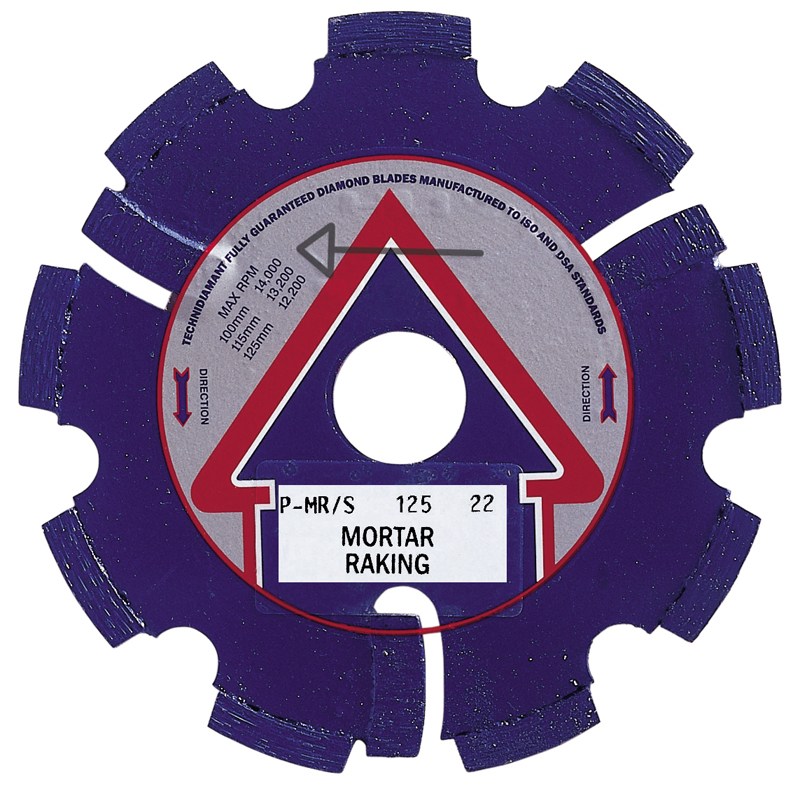 115x22mm RD6  Diamond Mortar Rake Blade