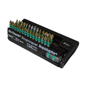 30pce Wera Rapidaptor PZ/PH/TX/SL/TX+P/HEX Screwdriver Bit Set