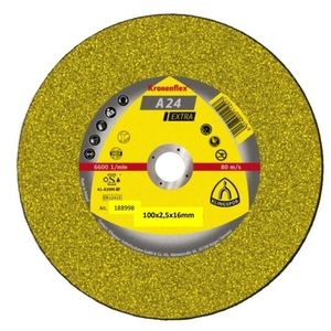 100x2.5mm Klingspor A24EX Metal Cutting Discs D/C