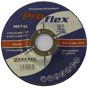 115x3x22mm Axxion Metal Cutting Discs D/C