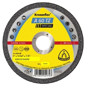 100x1.0mm Klingspor A60TZSP Metal Cutting Disc Flat
