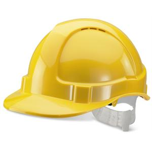 Yellow Standard Contract Safety Helmet