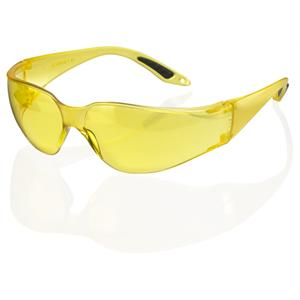 Axxion YELLOW Tint Lens Wrap Around Safety Glasses