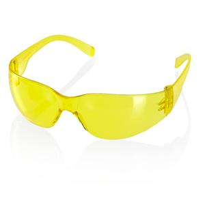 YELLOW Ultra-Light Ancona Wrap Around Safety Spectacles