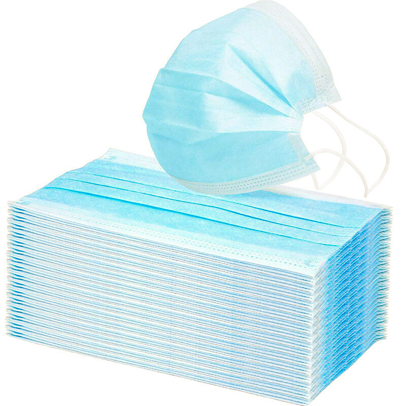 Surgical Type Disposable Face Mask - 3 Ply Non-woven (Box of 50 Masks)