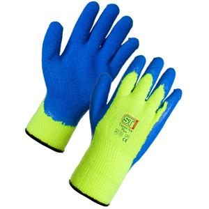Size 9 Large Winter Hi-vis Builders Grip Glove (12 pairs in a pack)