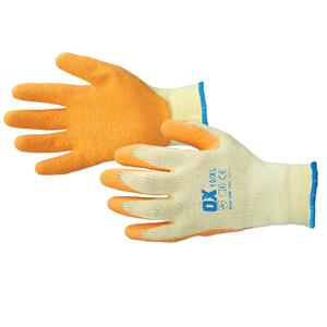Size 9 L Builders Grip Latex Coated Palm Gloves (12 pairs in a pack)