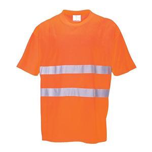 97237cc4c2d0 M Orange Hi-Vis Round Neck Short Sleeved T-Shirts