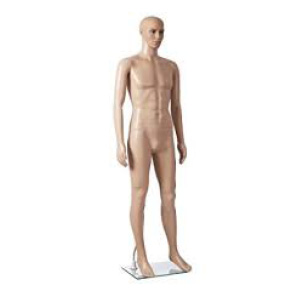 Male Full Body Flesh Tone Plastic Mannequin