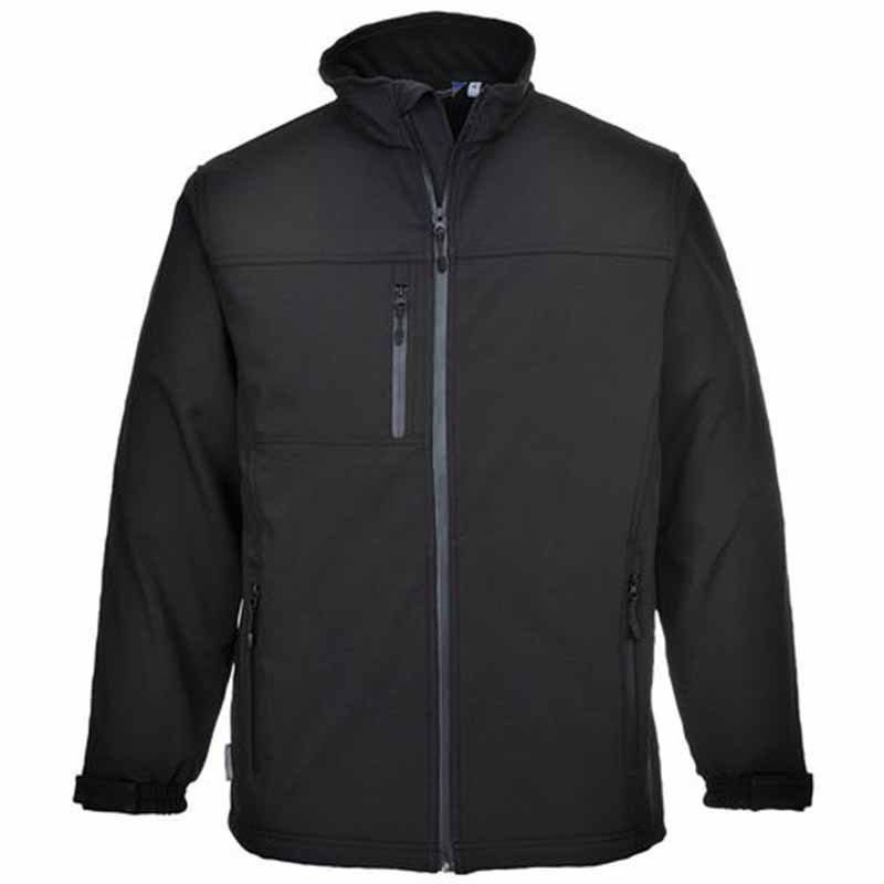 S Black3 Layer Laminated Softshell Jacket