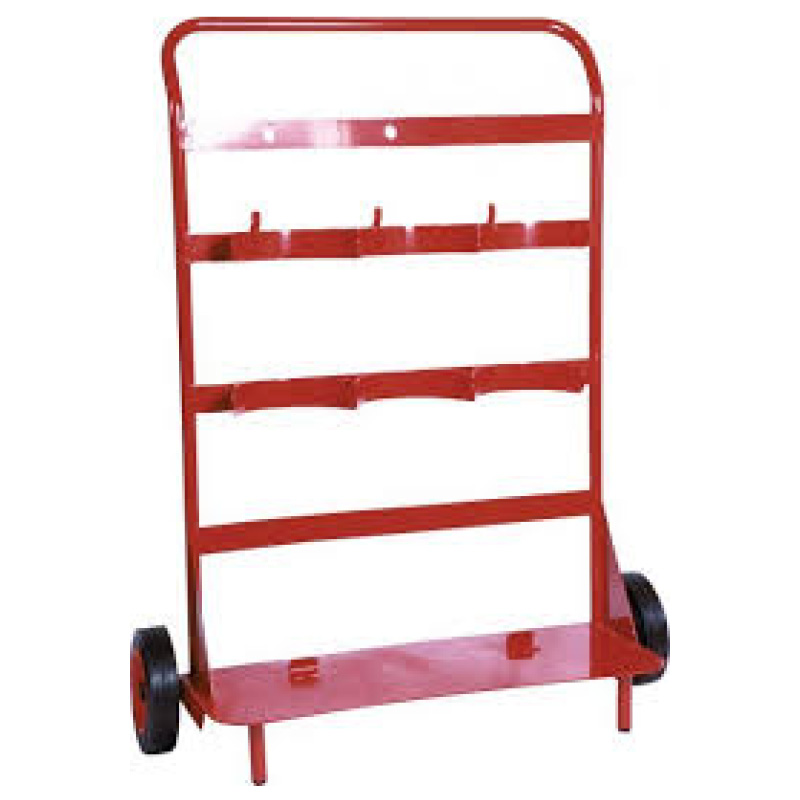 Triple Fire Extinguisher Trolley with back board