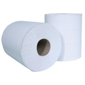 193mmx150m White 2 Ply Centrefeed Paper Wiper Rolls