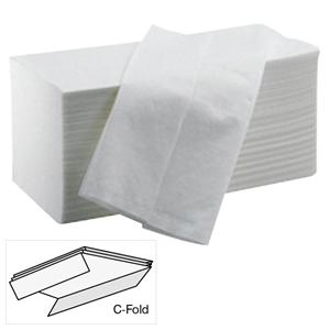 White C-Fold Hand Towels - 2 Ply (Case of 2355)