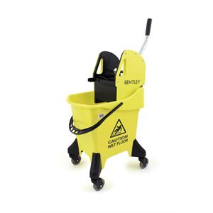 31 Litre Professional Mobile Mopping Unit with Wringer - YELLOW