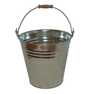 13 Litre Galvanised Metal Bucket