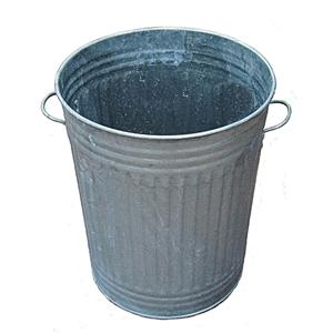 Galvanised Dustbin c/w Lid (Tapered)