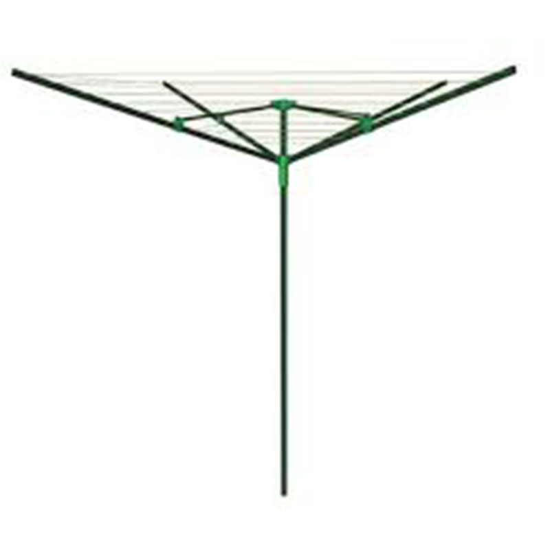 4 Arm 40m Steel Rotary Clothes Drier - Green