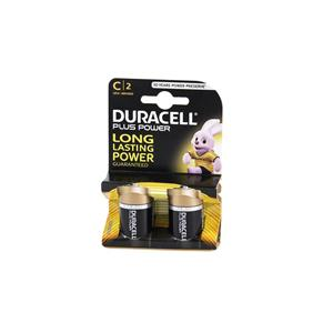 C Duracell Plus Batteries 1.5v (Pack of 2)