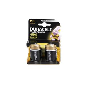 D Duracell Plus Batteries 1.5v (Pack of 2)