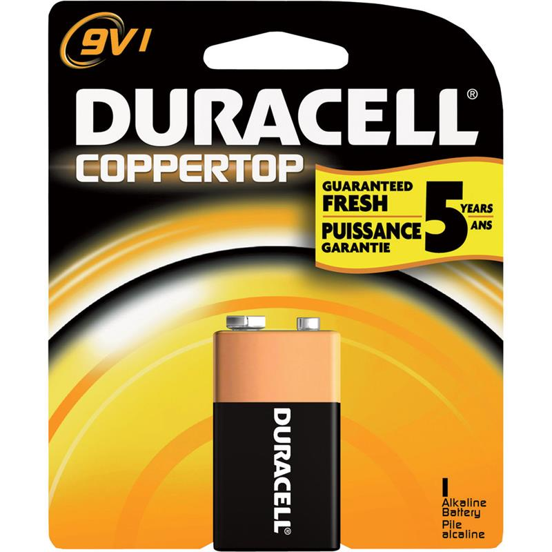 9V Duracell Plus Batteries 9v (Pack of 1)