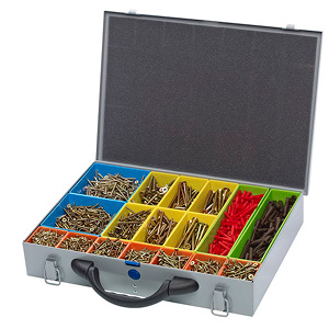 Medium Filled Screw Selection Storage Case - 390x280x70mm