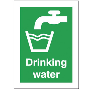70x50mm Self Adhesive Drinking Water Sign
