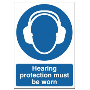 210x148mm Self Adhesive Hearing Protection Must Be Worn Sign
