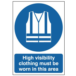 210x148mm High Visibility Clothing Must Be Worn In This Area - Rigid